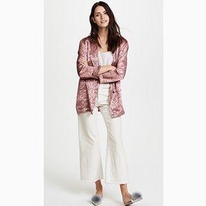 NWOT Free People Pink Paisley Jacquard Blazer Sz S
